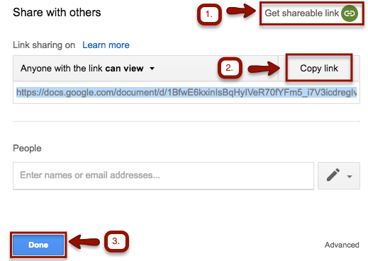 Google Share: Share your assignment with your instructor for
